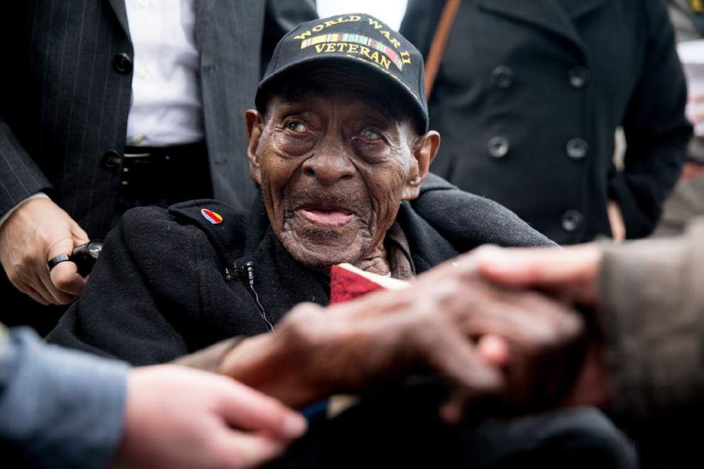 110-year-old World War II veteran from Louisiana dies _lowres