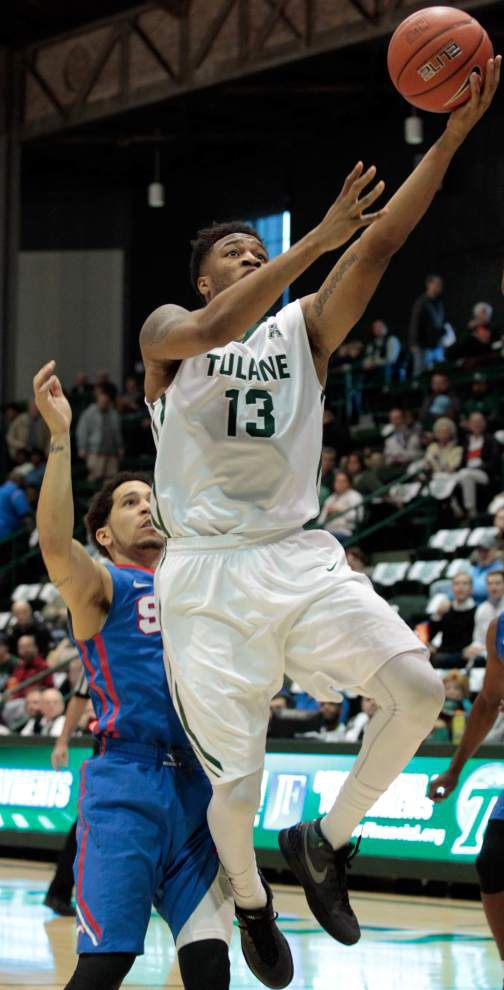 Tulane men fall short against No. 10 SMU, which remains unbeaten with a 60-45 victory _lowres