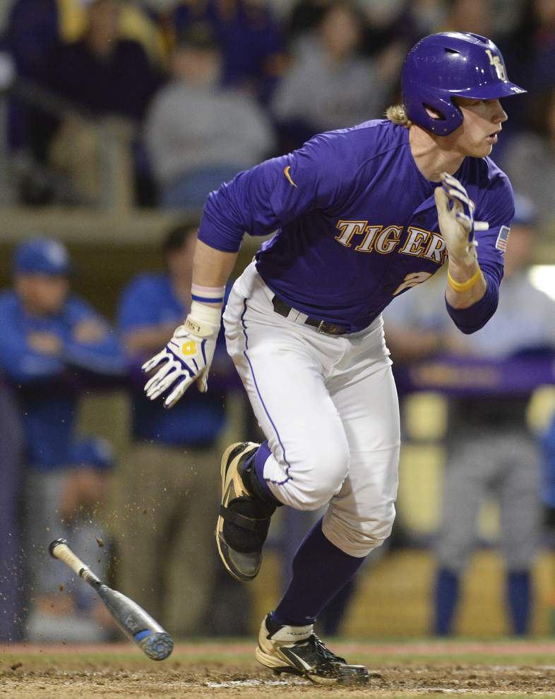 LSU sophomore Jake Fraley returns to the top of the lineup vs. Kentucky _lowres