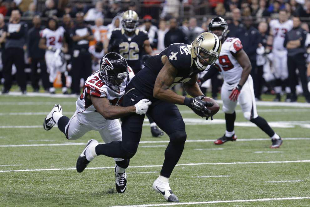 Saints receiver Marques Colston says he's not pleased with his performance and is mum about his future plans _lowres