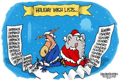 Walt Handelsman: Holiday Gift Lists