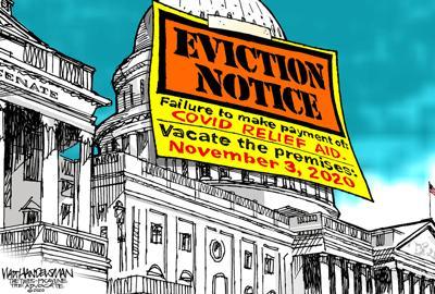 Walt Handelsman: Eviction Notice