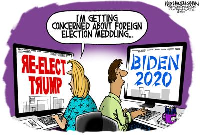Walt Handelsman: 2020 Election Meddling