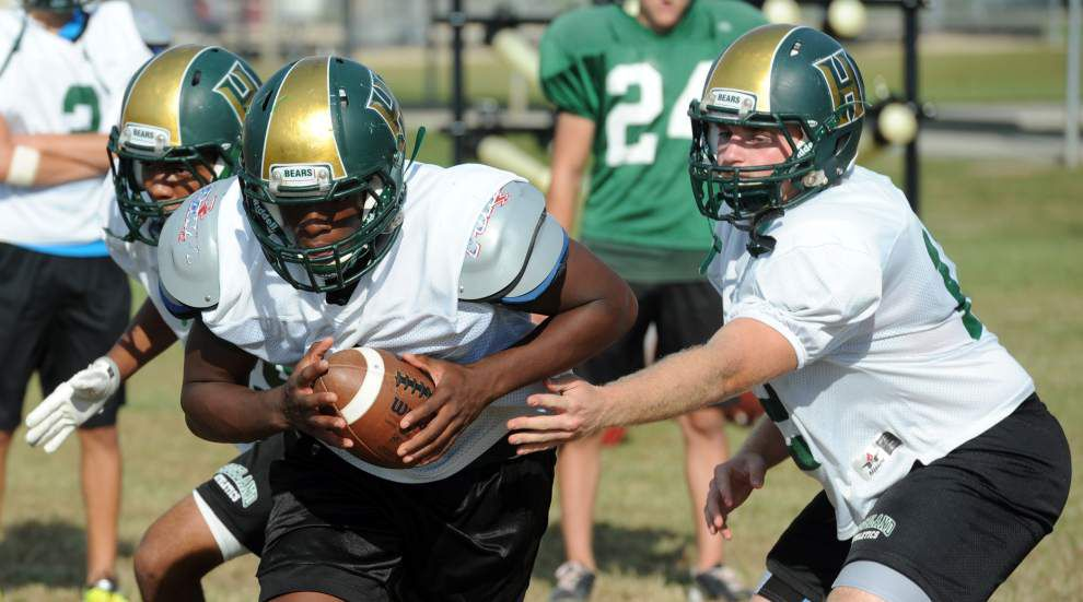 Highland Baptist running back Bronte Griffin churning out big yardage _lowres