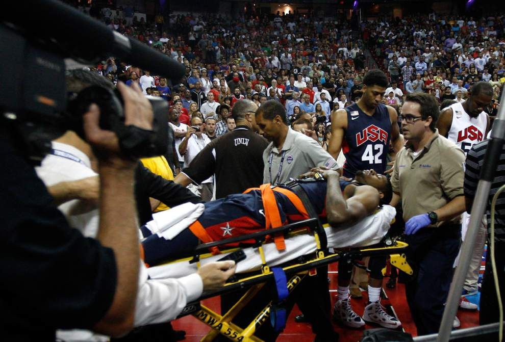 Doctors: Paul George faces long rehab process _lowres