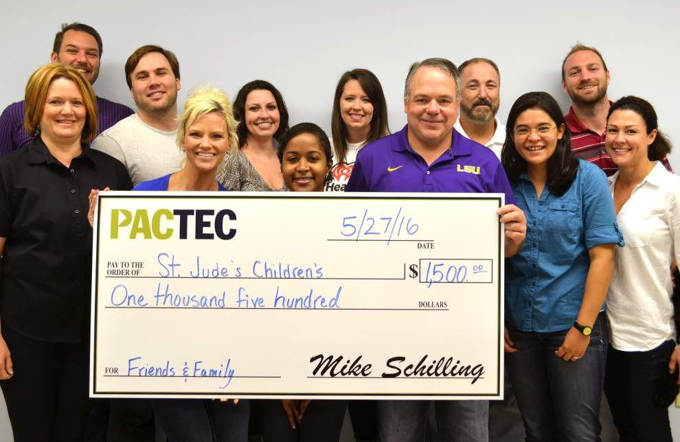 PacTec employees raise $1,500 for St. Jude _lowres
