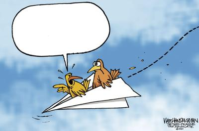 What's Got These Furious Fliers SO Bent out of Shape in Walt Handelsman's Newest Cartoon Caption Contest?... You Tell Us!!