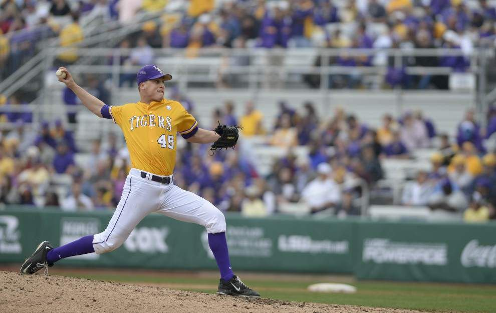 LSU relief pitcher Russell Reynolds relishes his return vs. Kansas _lowres