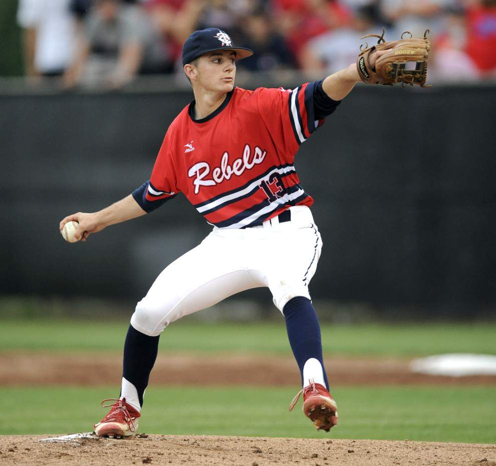 Teurlings Catholic pitcher Brett Weber commits to LSU-Alexandria _lowres
