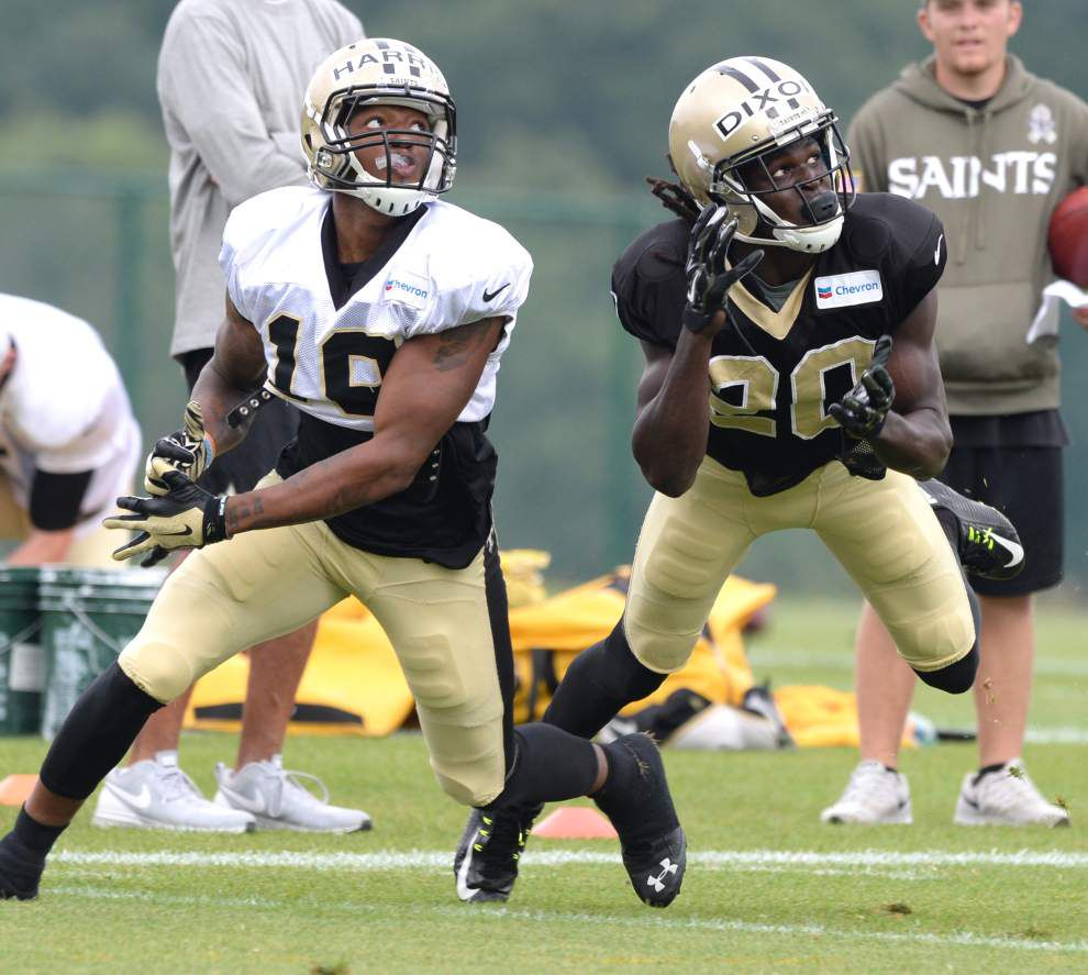 Inside Saints practice Wednesday: These 2 defensive backs making late, strong push to crack roster _lowres