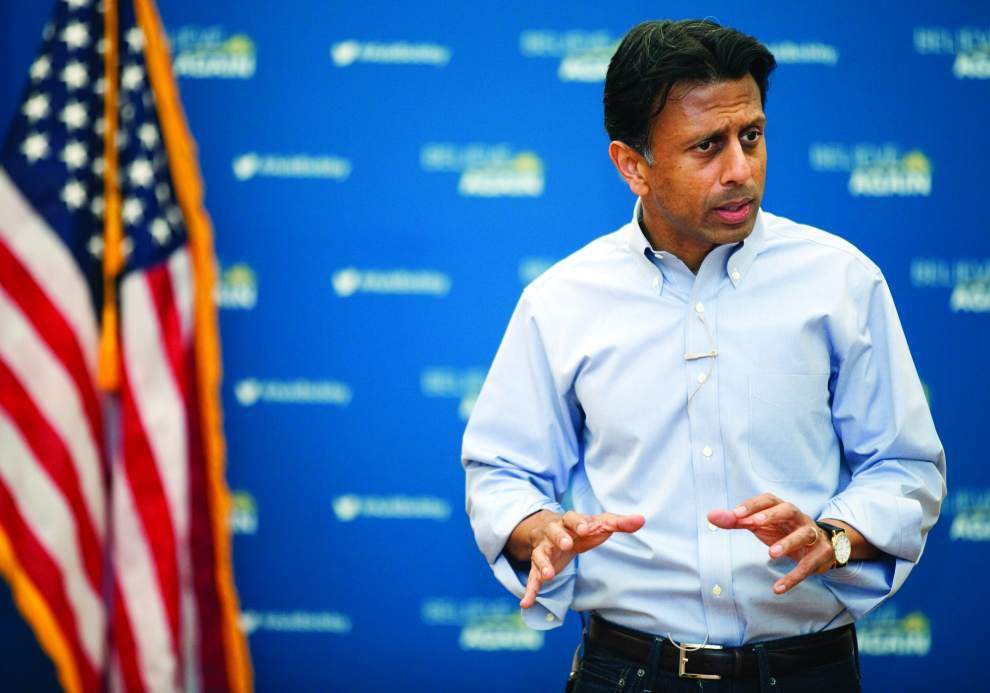 Bobby Jindal criticizes Wisconsin Gov. Scott Walker's 'Obamacare-lite' health care plan during stops in Iowa _lowres
