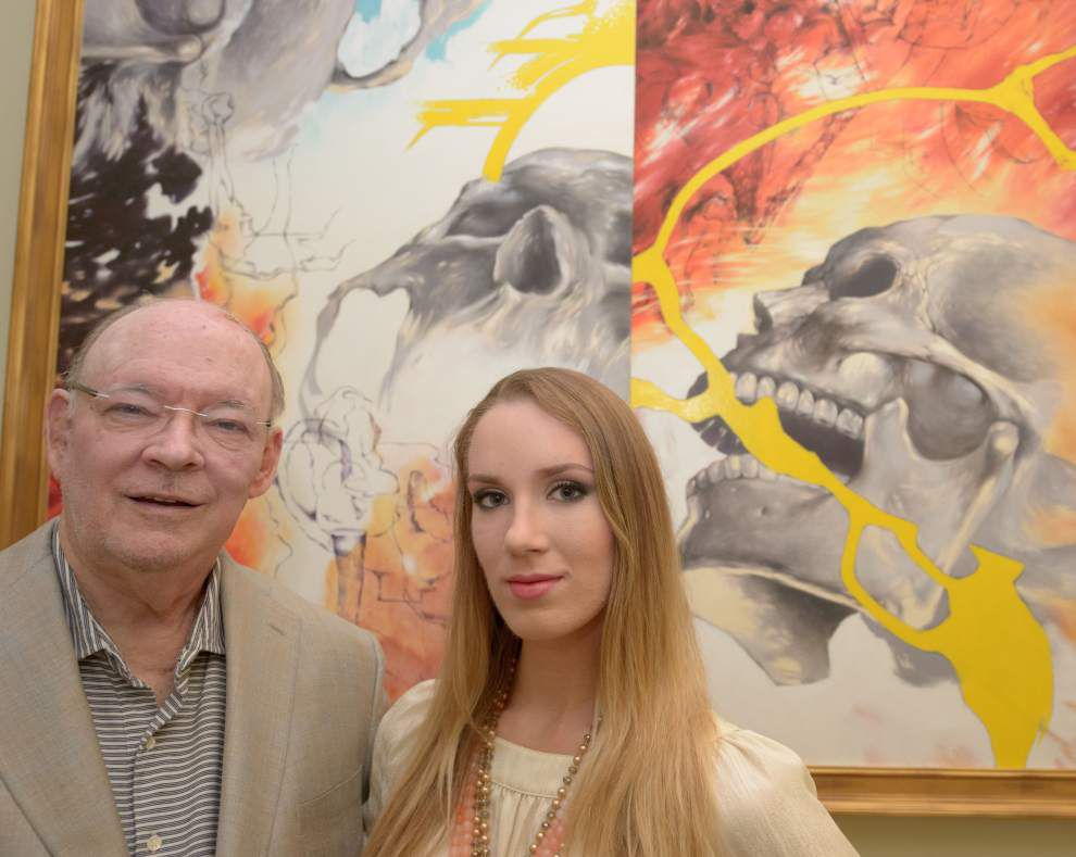 Painting depicts art-lover's journey with cancer _lowres