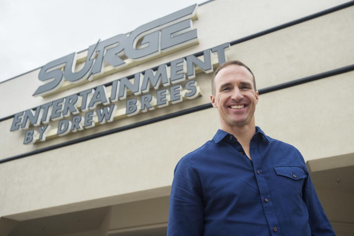 Brees Tours Surge Entertainment Center In Lafayette As