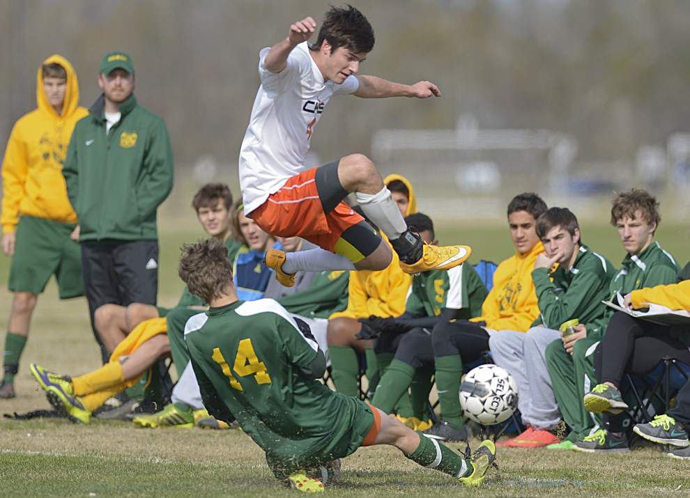 Baton Rouge High, Catholic play to tie again in boys soccer _lowres