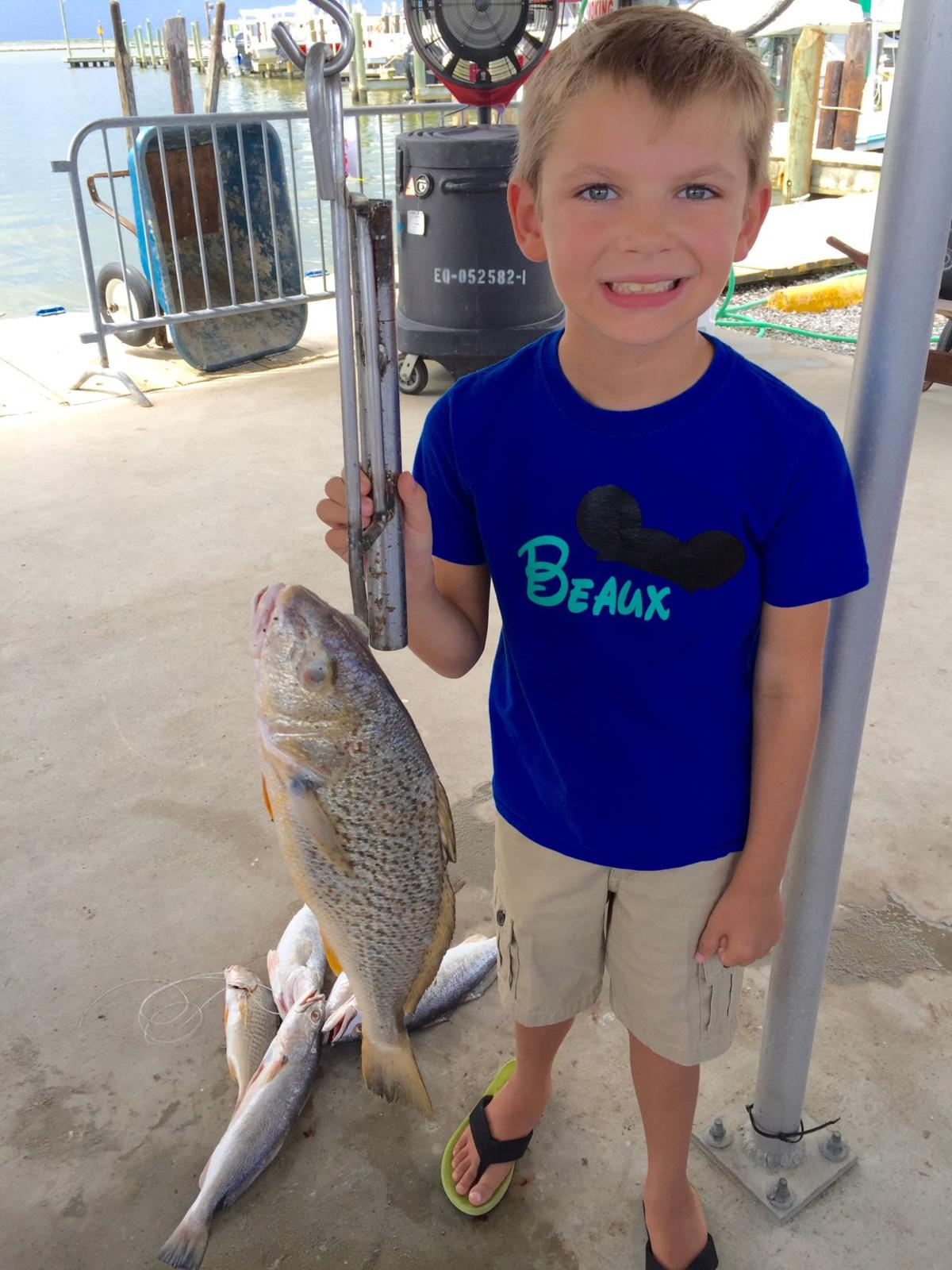 Kid with croaker