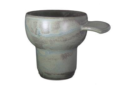 Matte Green Cafe-ERGO Porcelain Cup