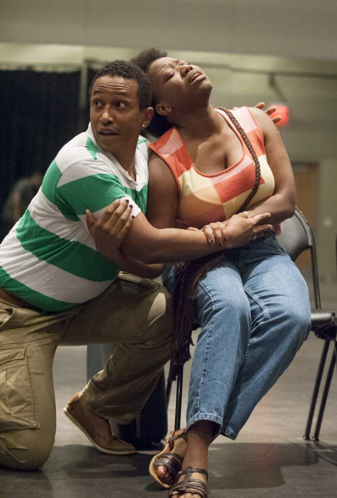 Black cast stars in play about old lady's desire for trip back to simpler time _lowres