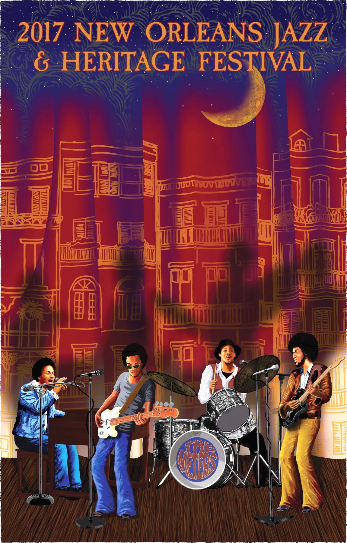 2017 new orleans jazz fest poster the meters