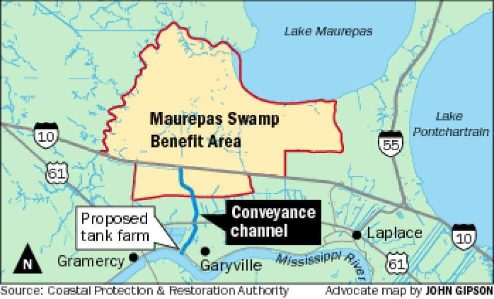 Concerns raised about locating tank farm and diversion canal close together near Garyville _lowres