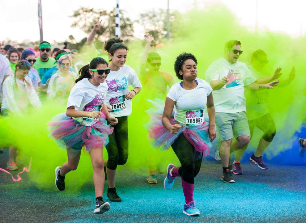 Photos: Joggers get colorful for run at Acadiana Mall _lowres