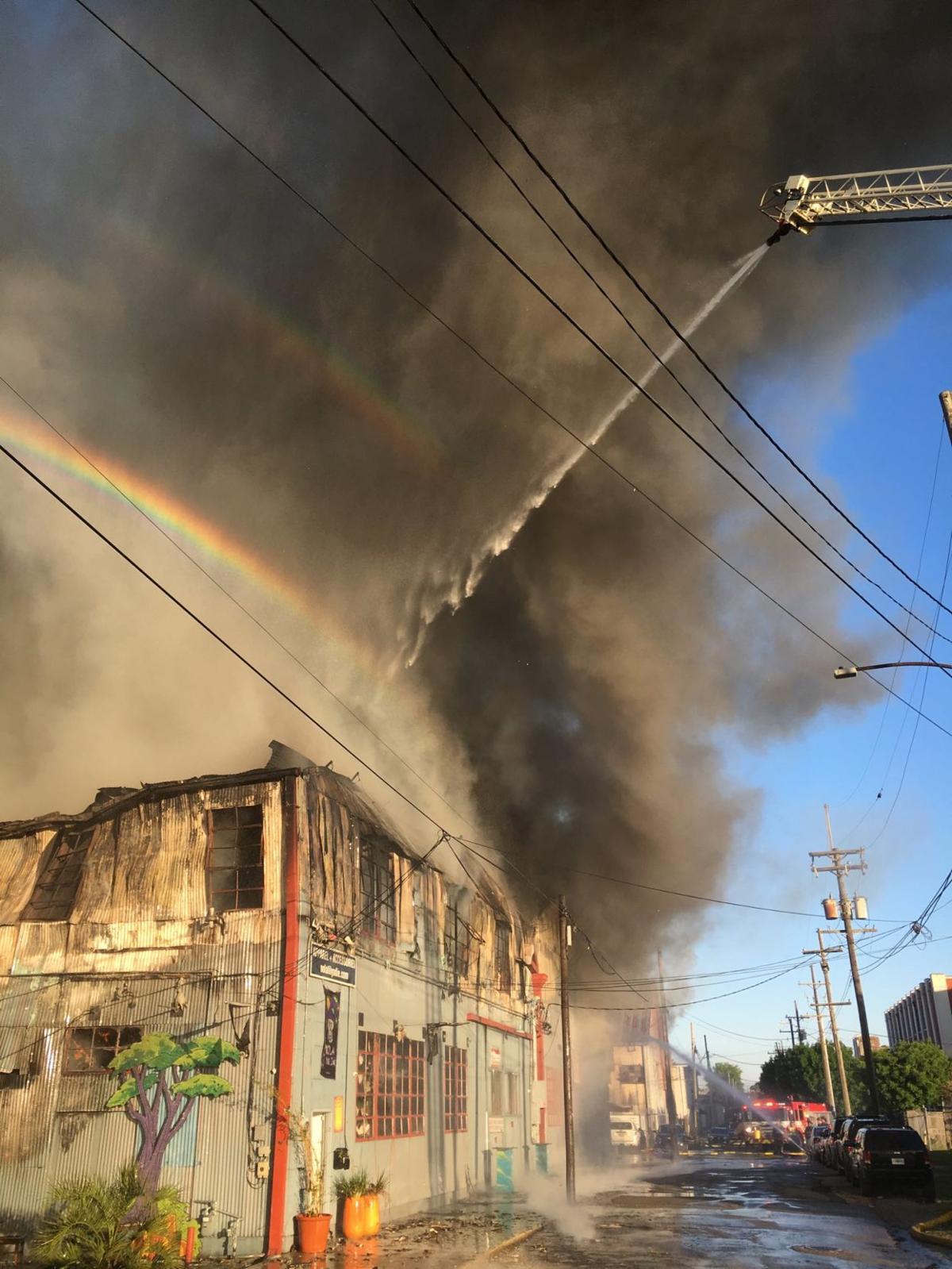 Bayou St. John fire