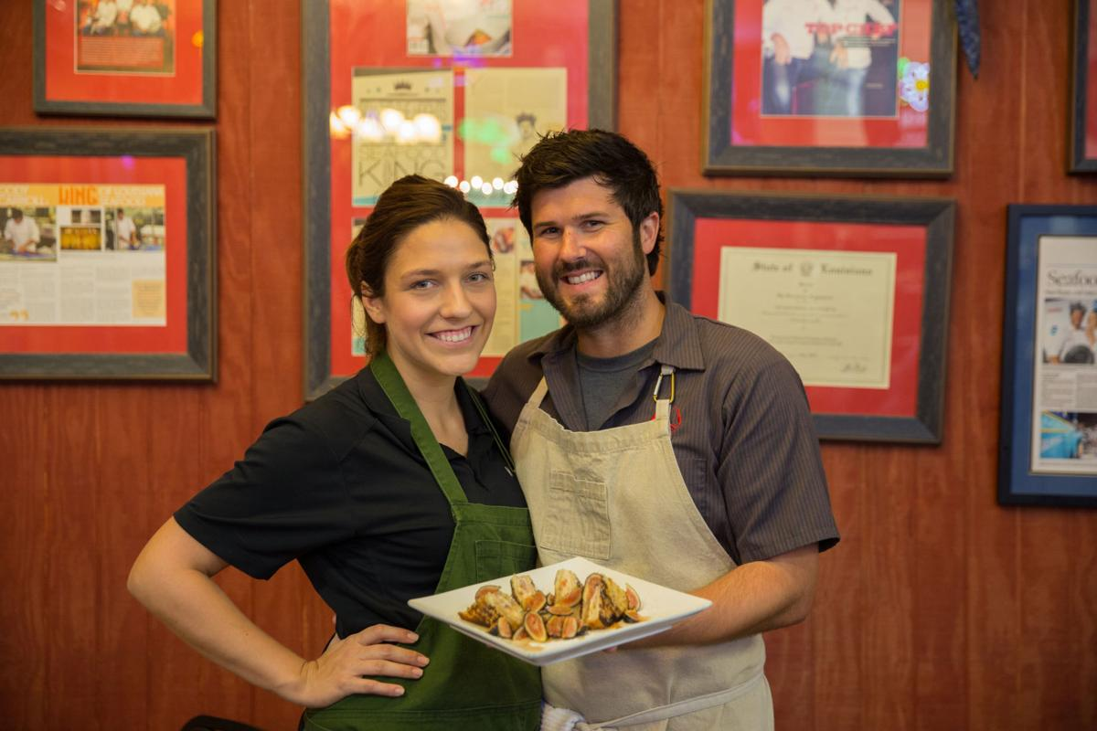 Sam and Cody Carroll with the Figgy French Toast Brunch Spe.jpg