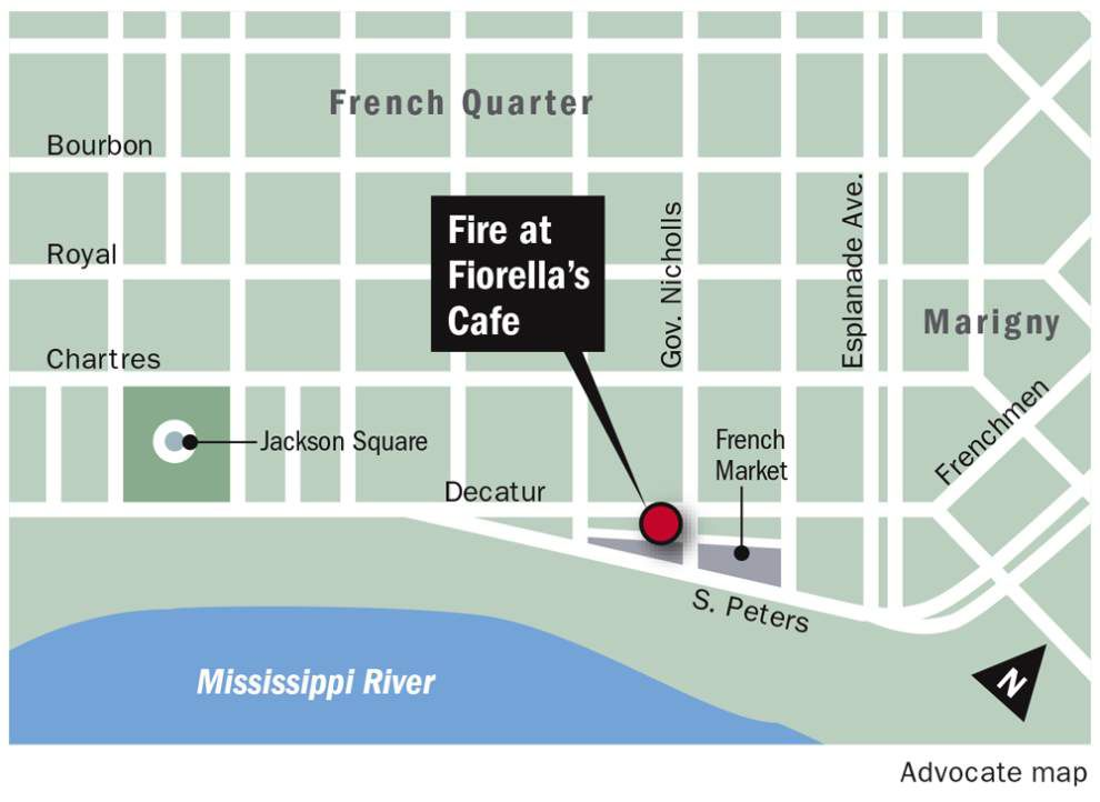 Kitchen fire damages Fiorella's Cafe in French Quarter; no injuries reported _lowres