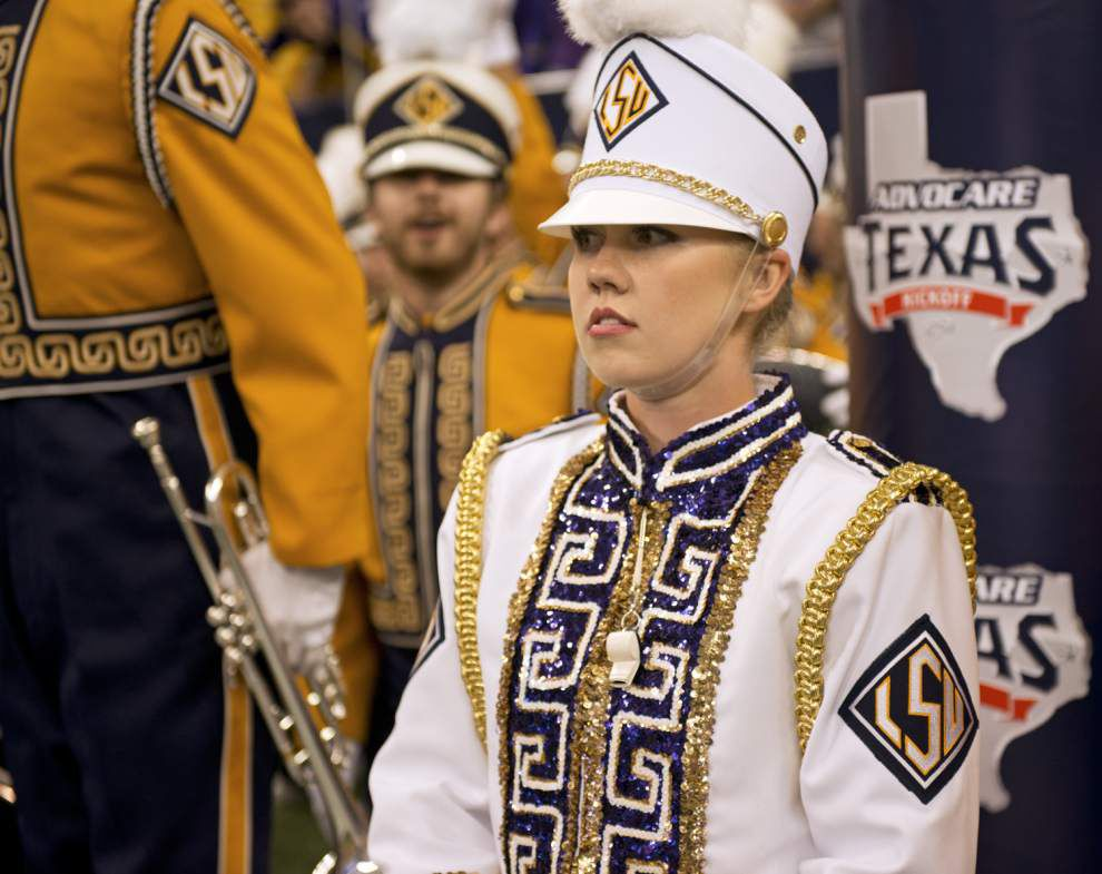 As only the third woman to hold the position, LSU's drum major is ready for the job _lowres