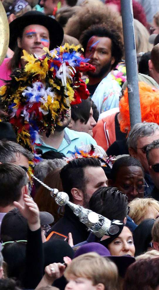 Thousands attend David Bowie second-line through French Quarter with Preservation Hall, Arcade Fire _lowres