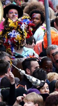 Thousands attend David Bowie second-line through French Quarter with Preservation Hall, Arcade Fire