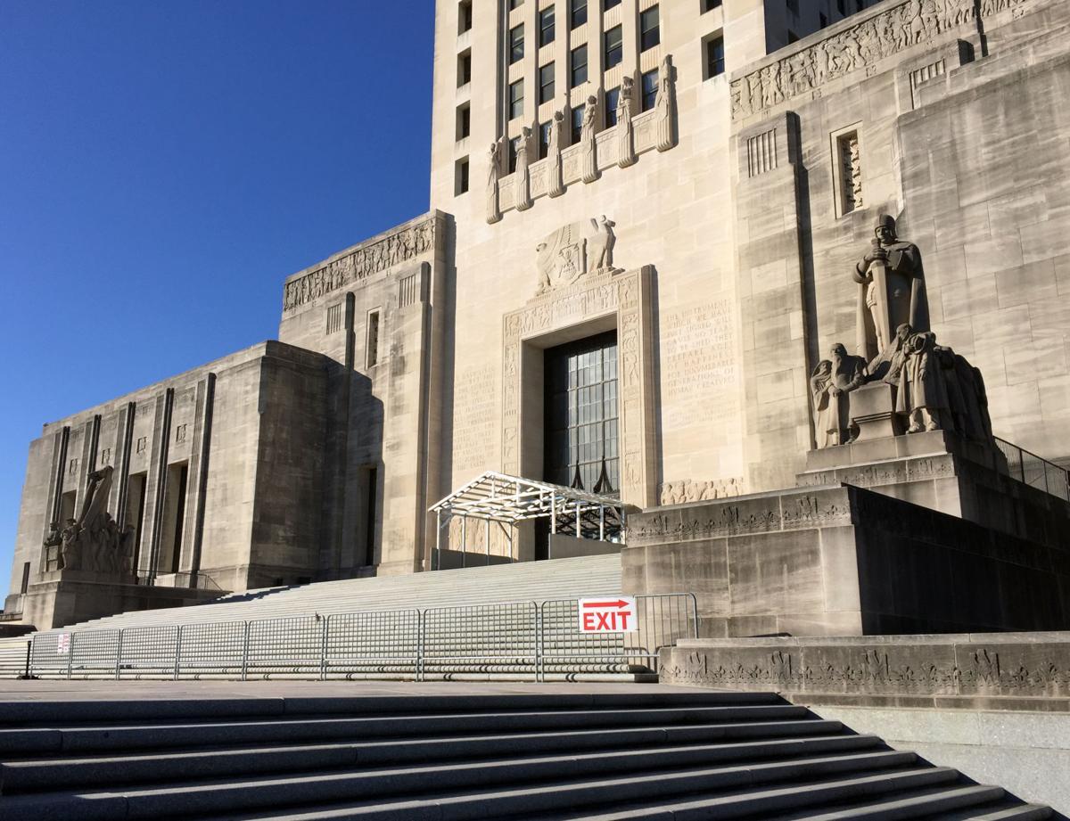 Reason For Temporary Steel Covered Walkway At Louisiana