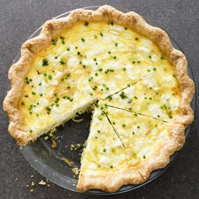 Leek and Goat Cheese Quiche