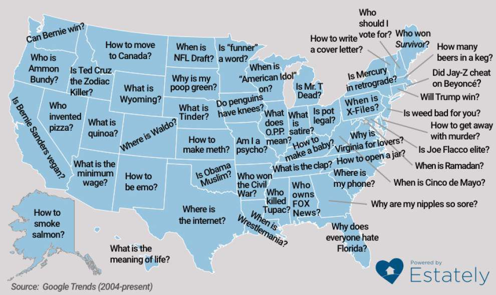 'Where is the Internet?': Find out the top strange Google searches for each state _lowres