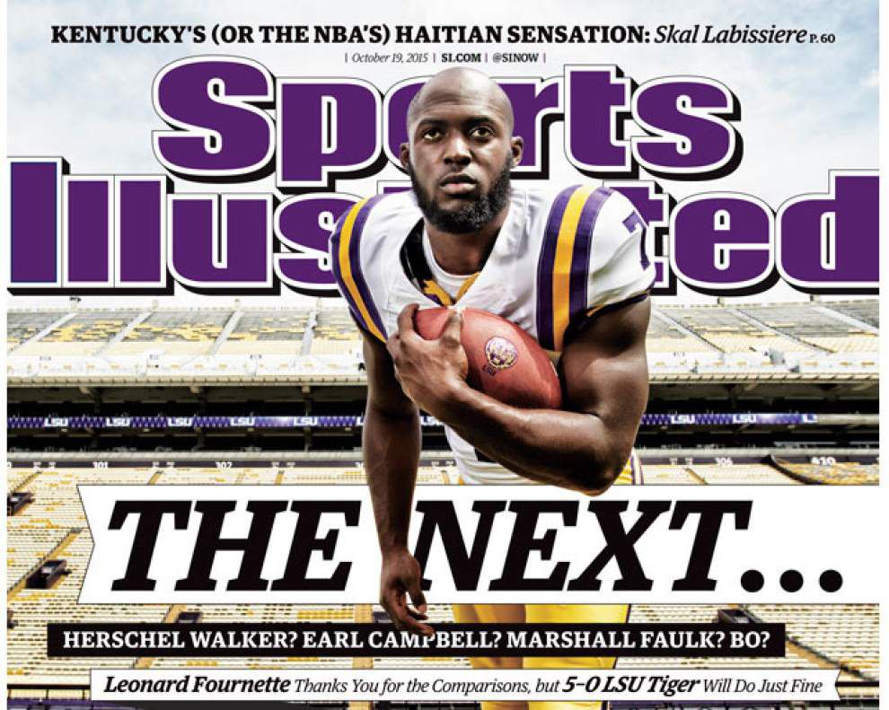 LSU's Leonard Fournette featured on Sports Illustrated cover _lowres