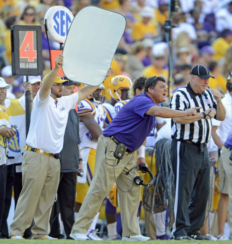 "'Moneyball': Why Ed Orgeron's ""get-off"" drill is paying big dividends for LSU's defensive line _lowres"