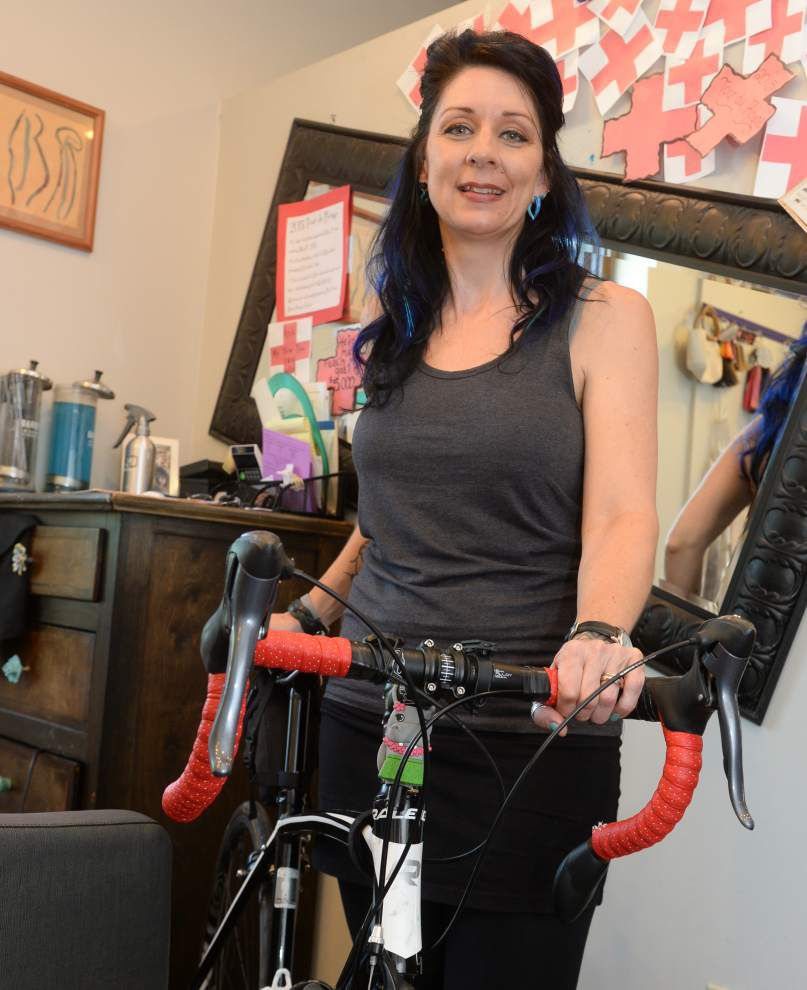 Better living through cycling: Baton Rouge's Lynn Johnson rides long-distance events to help others _lowres