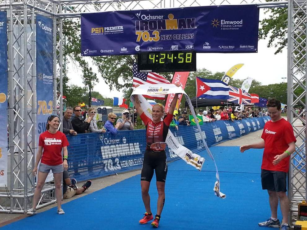 Andrew Starykowicz, Sarah Piampiano win New Orleans 70.3 half-Ironman titles _lowres