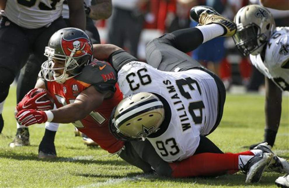 Saints defensive tackle Kevin Williams takes 200-game milestone in stride _lowres