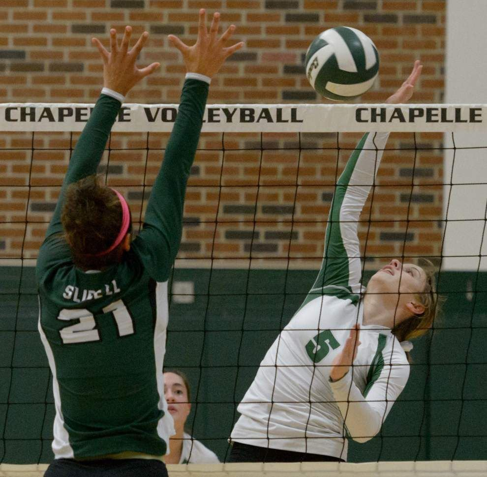 Chapelle outlasts Slidell volleyball _lowres