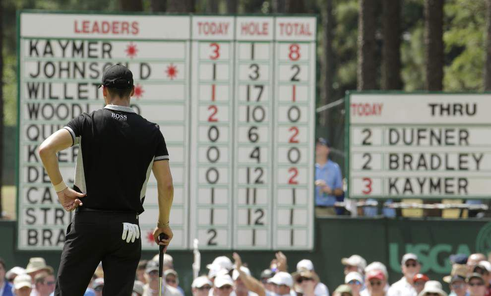 Martin Kaymer in command after 36 holes at the U.S. Open _lowres
