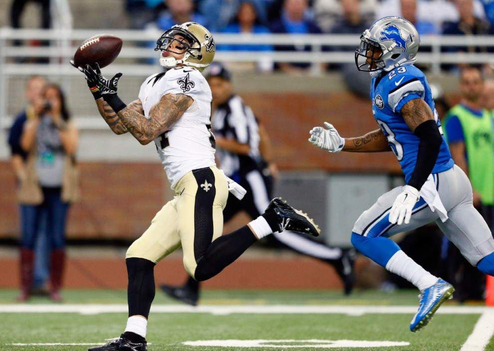 Corey White's miscue leads to Lions' long touchdown and sparks Saints late-game woes _lowres