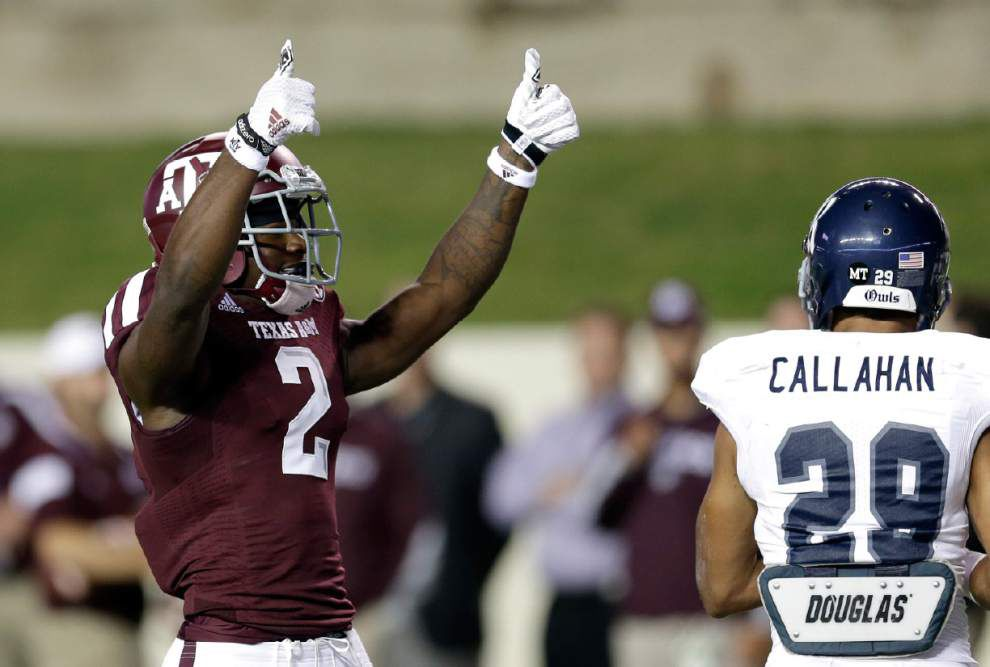 Texas A&M's Speedy Noil breaks out as one of several New Orleans area true freshmen finding ways to contribute _lowres