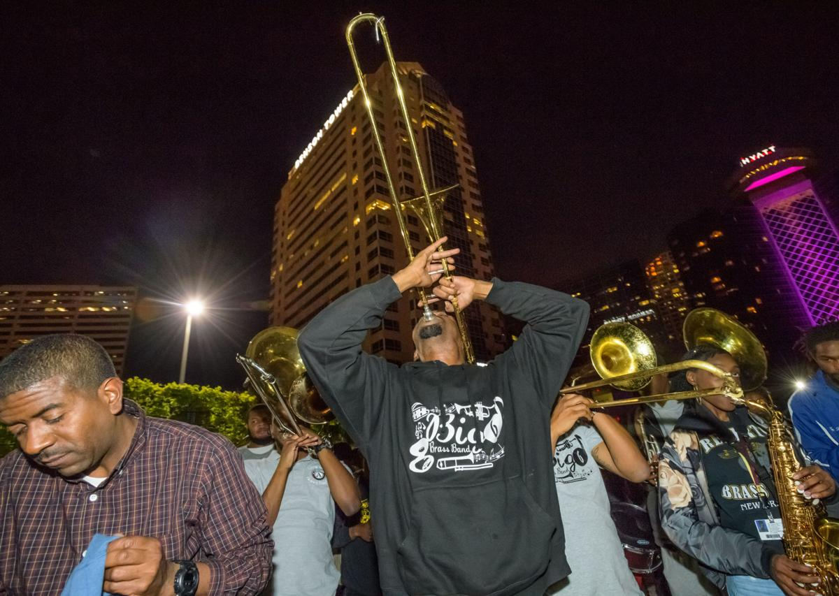 Video  Saints fans celebrate Tom Benson s life with second line from  Seventh Ward to Superdome Thursday a671417fe