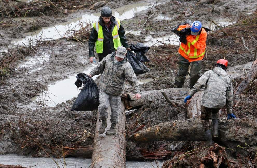 Search dogs take break from mudslide recovery _lowres