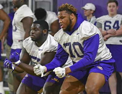 Lsu S Starting Left Guard Ed Ingram May Be Out Against Missouri Ed Orgeron Says Lsu Theadvocate Com