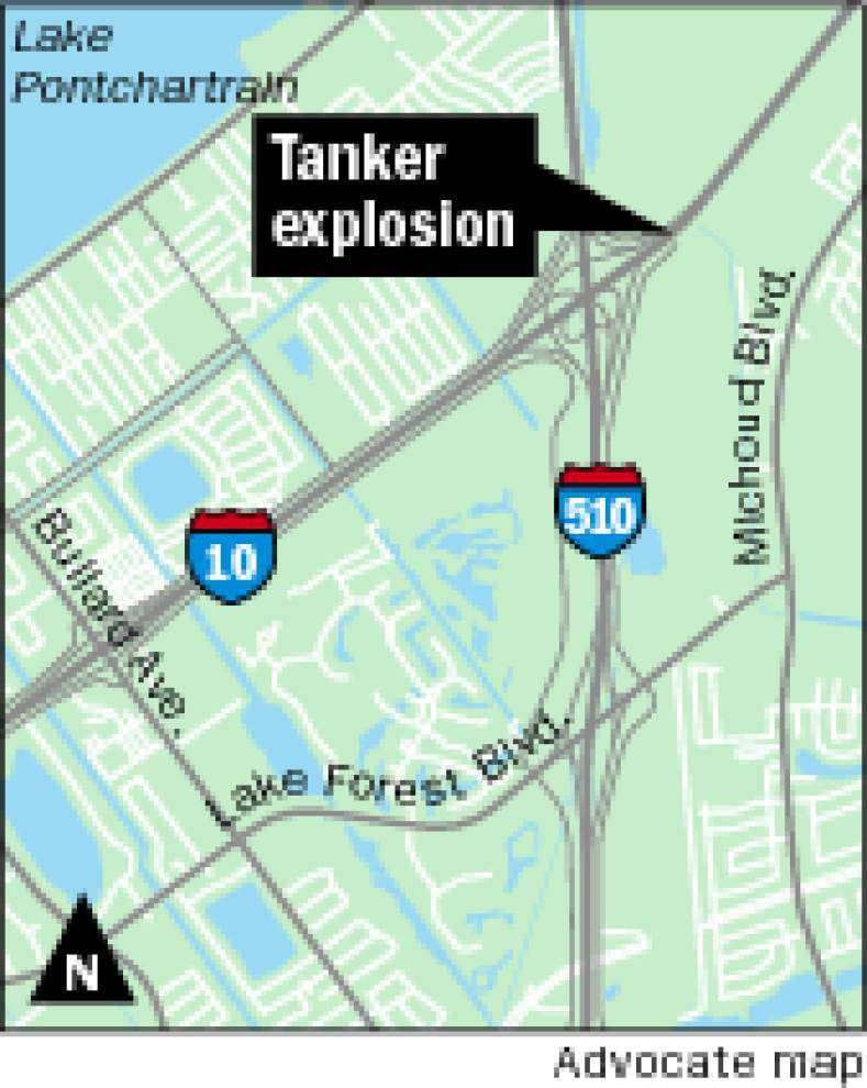 Morning update: I-10 East reopens, was closed after tanker explosion _lowres