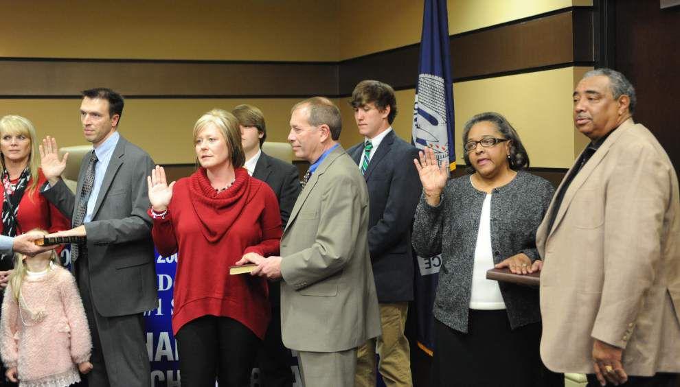 Zachary Community School Board members sworn in _lowres