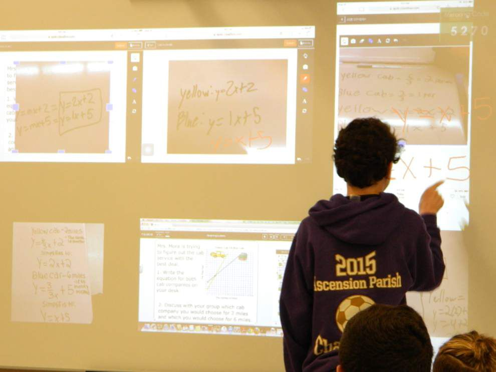 Dutchtown gets first crack at cutting-edge smartboard _lowres