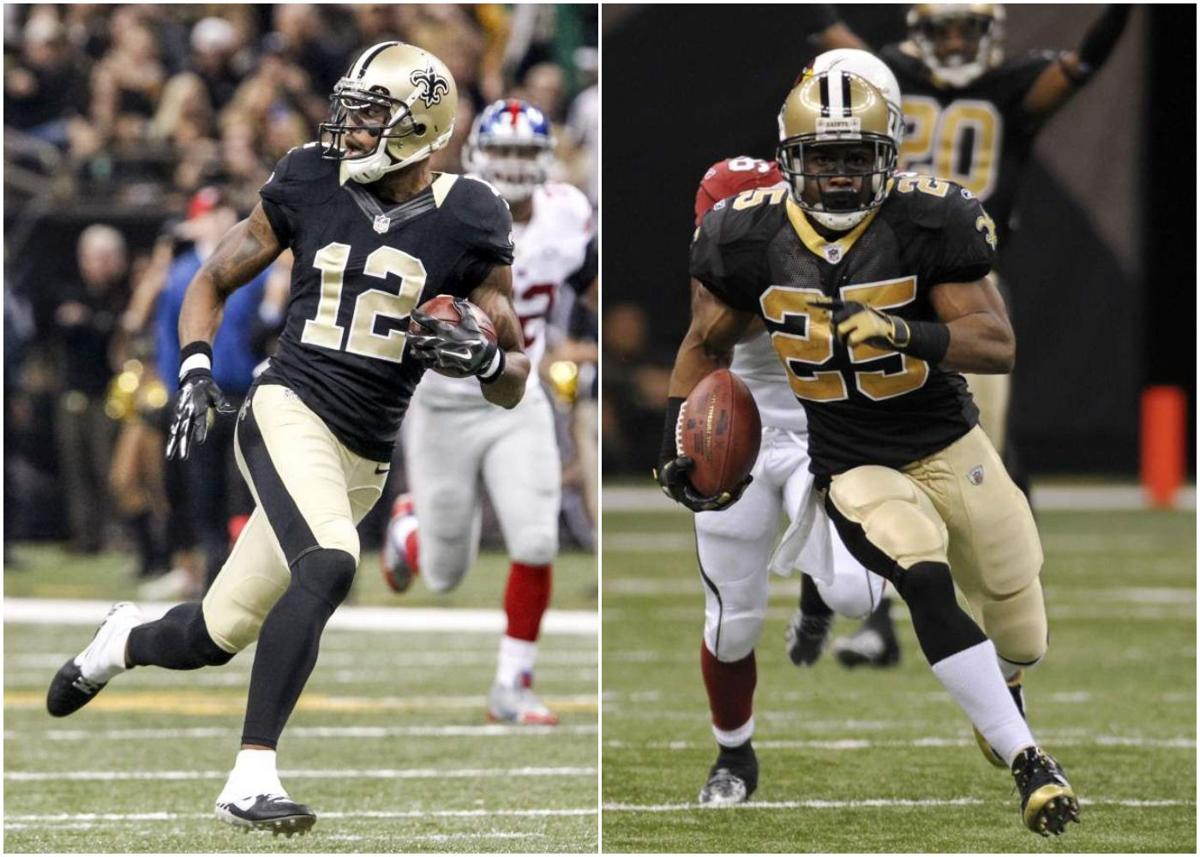 Marques Colston and Reggie Bush