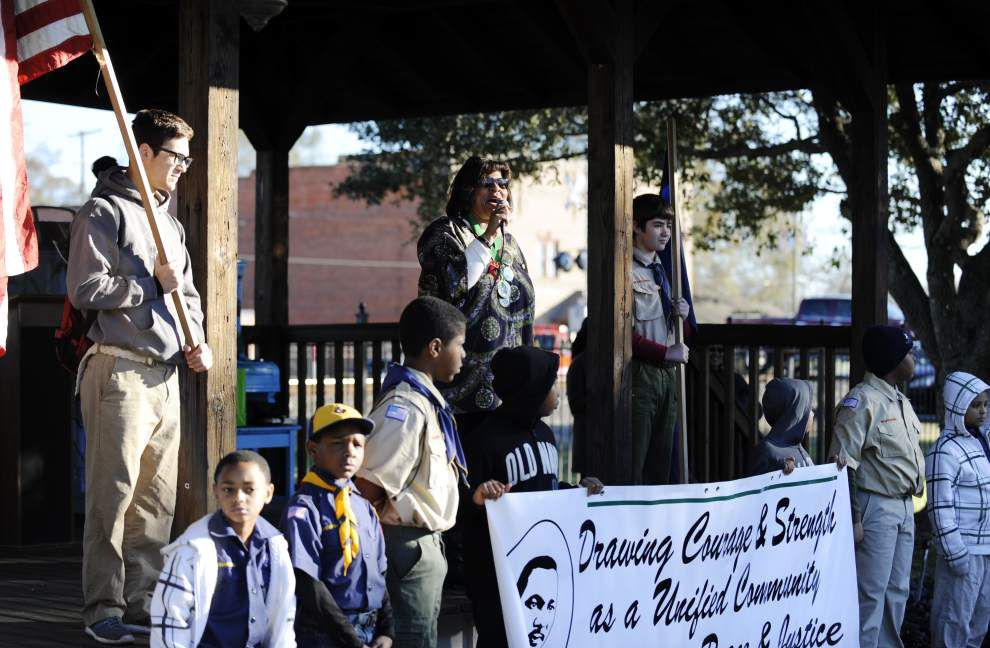 Rayne residents observe Martin Luther King Jr. Day with march, songs, poetry _lowres